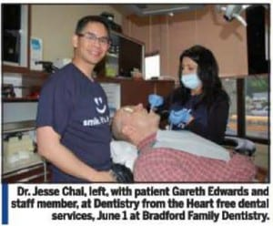 Dentist Bradford - Dentistry from the Heart 2012 | photo: Bradford Times