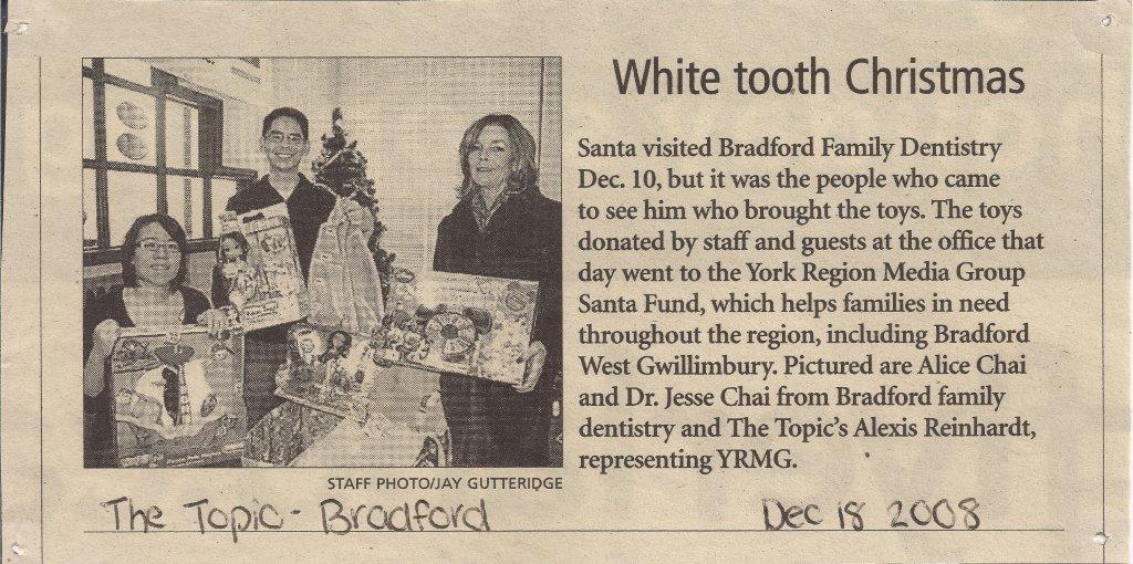 Dentist Bradford Santa White Tooth Christmas | photo: The Topic