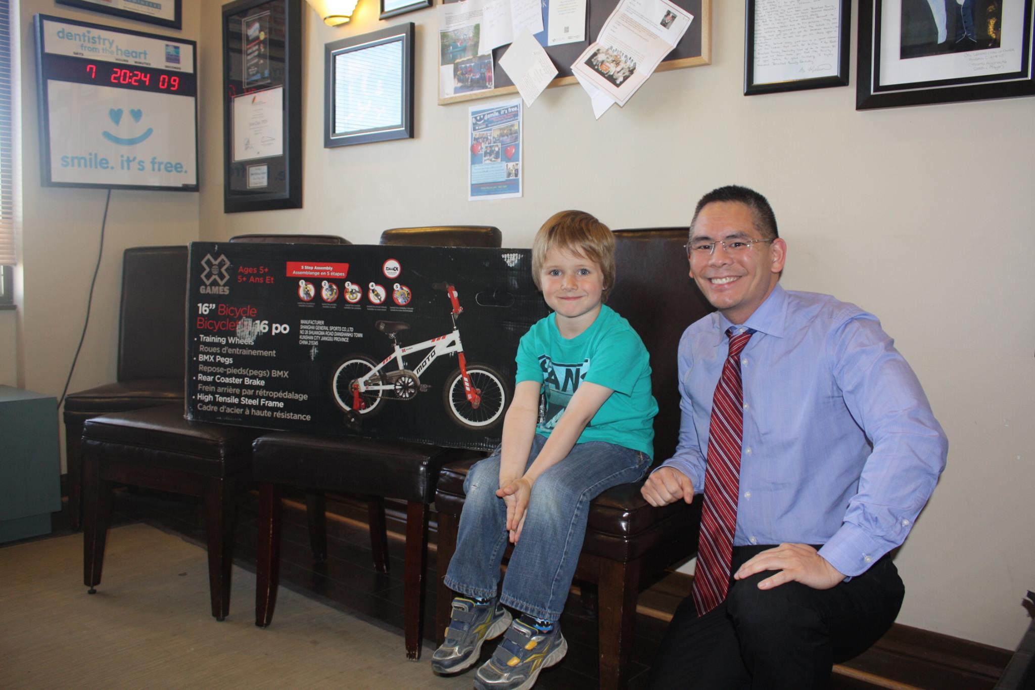Bradford Family Dentistry Boy's Bike Giveaway