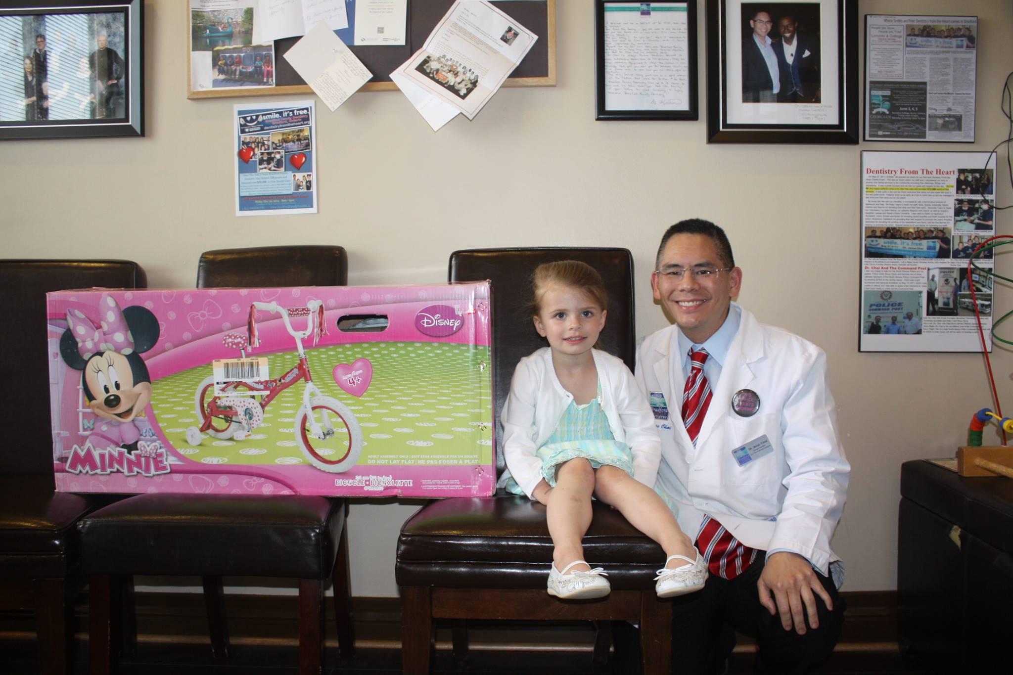 Bradford Family Dentistry Girl's Bike Giveaway