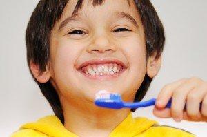 Bradford Family Dentistry kid brushing teeth