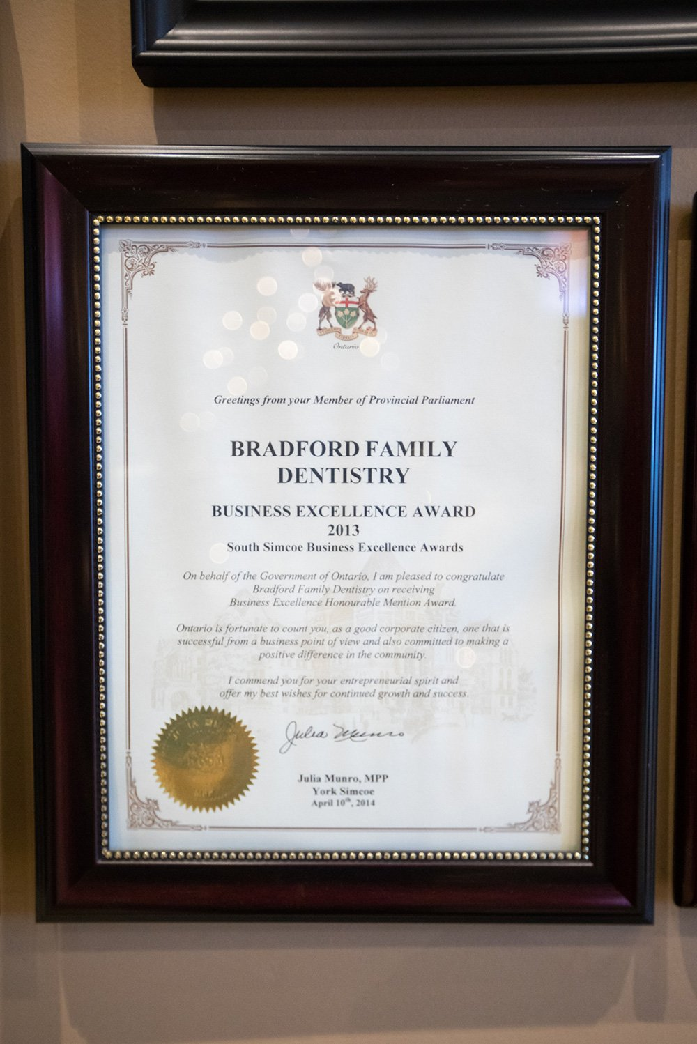 2013 Business Excellence Award - Bradford Board of Trade