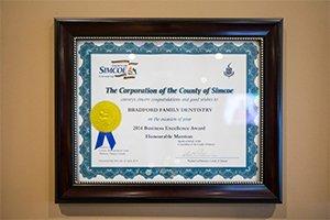 Award -BradfordFamilyDentistry-7966