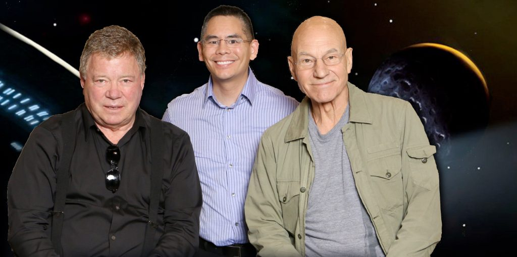 Dr Chai and William Shatner and Patrick Stewart Photo