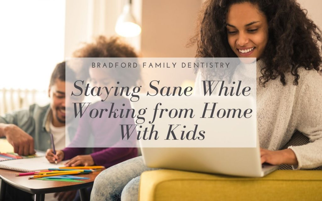 Staying Sane While Working From Home With Kids Blog Post